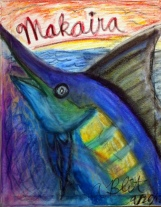 """Makaira nigricans"" (2012) Size: 16"" x 20"" Media: Pastel on Canvas"
