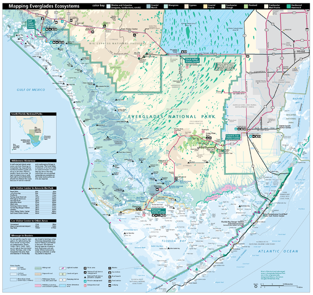 Figure 4: National Park Service map of Everglades