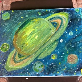 A View of the Planet Saturn from Above - 11x14