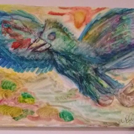 "Canvas Size: 11"" x 14"" Media: Watercolor"