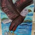 Bald Eagle in Flight (Acrylic Version) –11×14