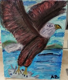 Bald Eagle in Flight (Acrylic Version) - 11x14