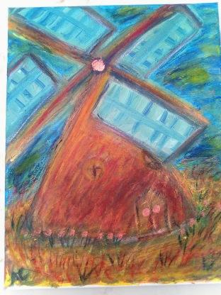 Impressionist Windmill - 11x14