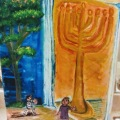 Light and Shadow, and the Great Maccabean Menorah and the Tree of Life –18×24