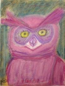 Magenta Owl - 11x14