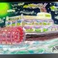 Mississippi Paddleboat – Starboard –8×10