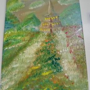 "Canvas Size: 11"" x 14"" Media: Acrylic"