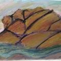 Pastel Artichoke Mountain –16×20
