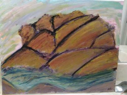 Pastel Artichoke Mountain - 16x20