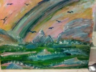 Pastel Paradise - 16x20