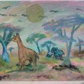 Pastel Serengeti –16×20