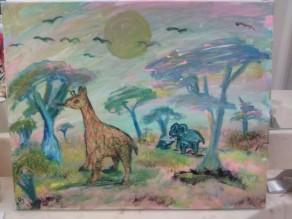 Pastel Serengeti - 16x20