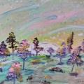 Pastel Star Garden – 16×20 –$400