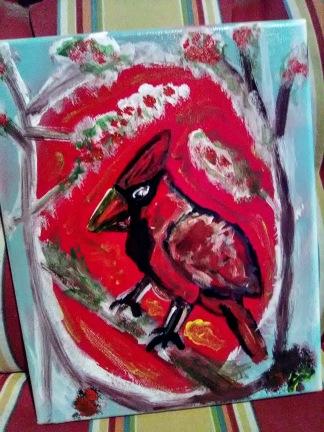 Perched Cardinal - 8x10