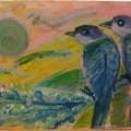 Perched Pastel Portrait –16×20