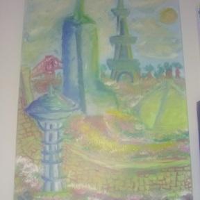 "Canvas Size: 18"" x 24"" Media: Acrylic"