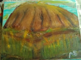 Scenic View (Ayers Rock) - 11x14