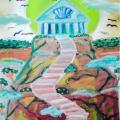 Seashell Mountain Shrine – 16×20 –$350