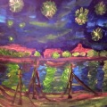 Starry Night on the Rhone – Andrew's version of a Van Gogh –16×20