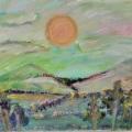 The Sun Sets on Pastel Mountain –16×20