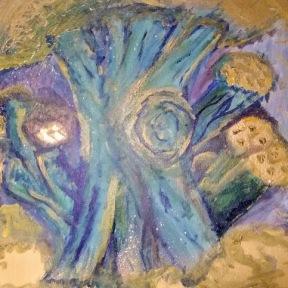 "Canvas Size: 16"" x 20"" Media: Spraypaint and Acrylic"
