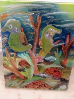 Tropical Seahorses - 11x14 - $150